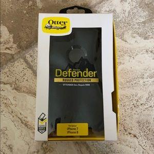 Otter Box Defender iPhone 7 iPhone 8 black NIB